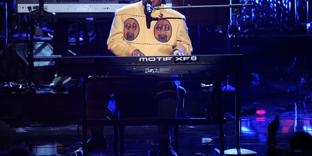 Stevie Wonder performs onstage at the BET Awards at the Nokia Theatre on Sunday, June 30, 2013, in Los Angeles.