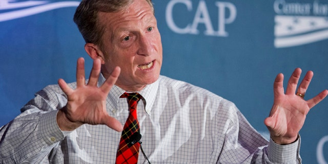 Nov. 19, 2014: Environmentalist Tom Steyer speaks to a Center for American Progresss Second Annual Policy Conference in Washington. (AP)