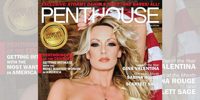 The adult film actress is featured on the cover the May-June 2018 issue of Penthouse magazine wearing little more than the necklace in question.