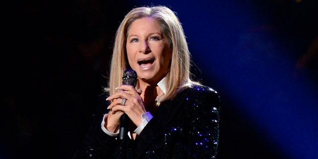 Barbra Streisand mocked Donald Trump at a Hillary Clinton fundraiser.