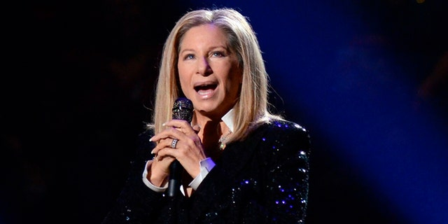Barbra Streisand mocked Donald Trump at a Hillary Clinton fundraiser.