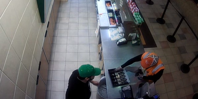 Police say the thief made off with $200 in cash, a sandwich and some cookies.