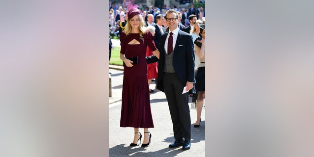 Gabriel Macht and his wife shared photos  of themselves on social media during the royal wedding weekend.