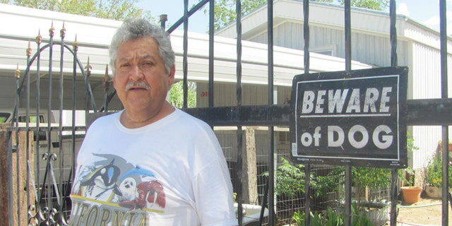 Armando Martinez has found illegal immigrants hiding on his property - despite a fence of his own.