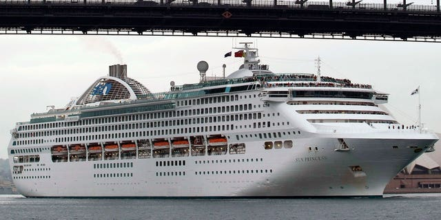 Passengers aboard the Sun Princess, pictured above in 2007, say they came down with diarrhea and vomiting during the 2016/2017 voyages.