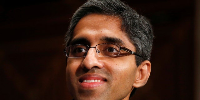 FILE - In this Feb. 4, 2014, photo, then U.S. Surgeon General appointee Dr. Vivek Murthy appears on Capitol Hill in Washington.