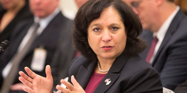 April 12, 2013: Drug Enforcement Administration (DEA) Administrator Michelle Leonhart testifies on Capitol Hill in Washington.