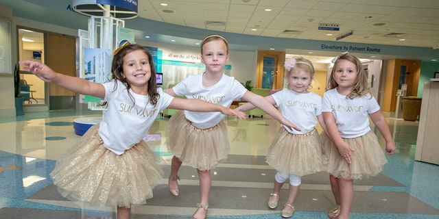 This year marks the first that all four girls were finished with their treatments.