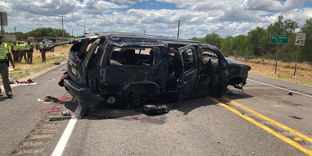 At least five people were killed after an SUV carrying illegal immigrants crashed following a high-speed chase near the Texas-Mexico border, the sheriff said.