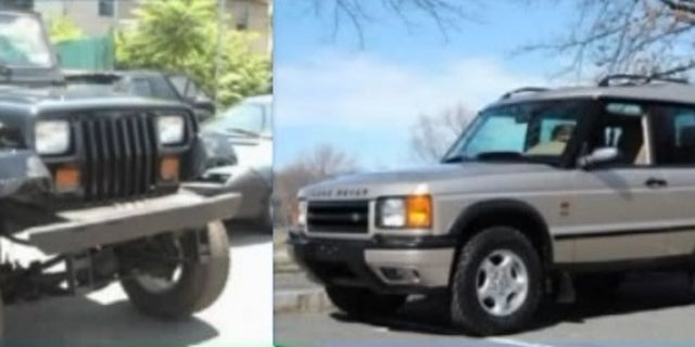 Police said the couple's Jeep Wrangler and Land Rover apparently fell down an embankment near Oso.