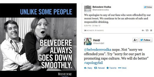"""Belvedere Vodka receives SUXORZ award for """"What were they thinking?"""""""