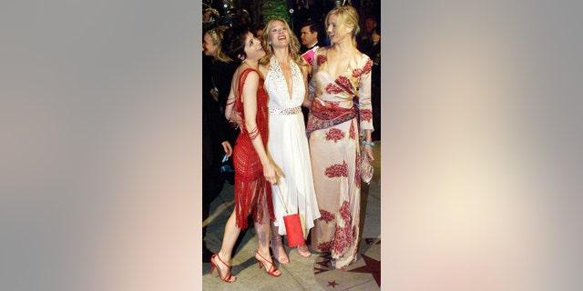 Selma Blair, Christina Applegate and Cameron Diaz together in 2002.