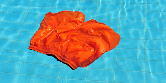 A man on vacation in Ibiza was pranked by his friends with dissolvable swim trunks.