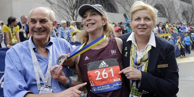 The Boston Athletic Association retired Swtizer's bib number -- 261 -- after her 50th anniversary run last year.