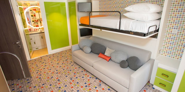 """Royal Caribbean touts its Ultimate Family Suite as """"two stories of awesome thrills on every level."""""""