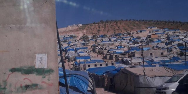 Displacement camp in Idlib province, Syria