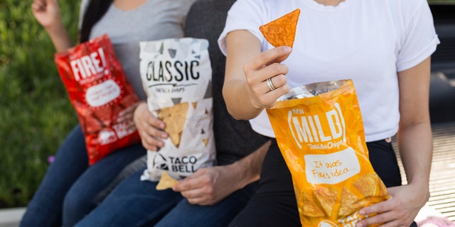 The tortilla chips will come in Classic, Mild and Fire flavors, the latter two taking flavor inspiration from Taco Bell's sauce packets.