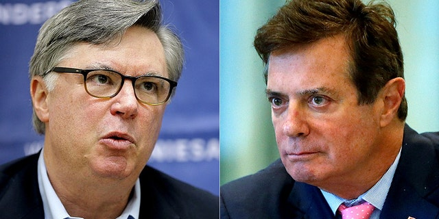 Prosecutors could show the jury evidence related to Tad Devine, left, the chief strategist for Sanders' 2016 presidential campaign, in the federal case against Paul Manafort, right.