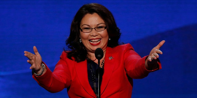"""Sen. Tammy Duckworth has become the first sitting member of the """"world's greatest deliberative body"""" to give birth while in office."""