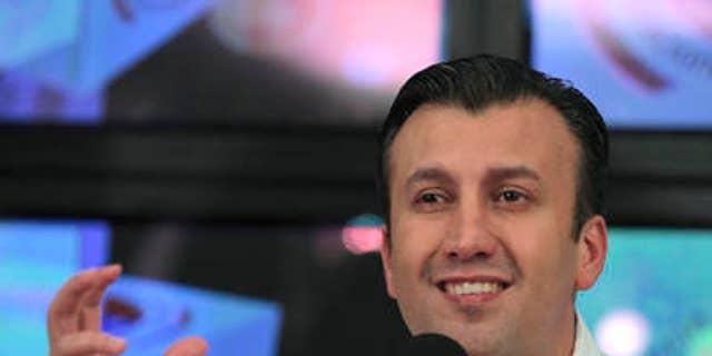 Then Venezuela's Justice Minister Tareck El Aissami in an April 2012 file photo.
