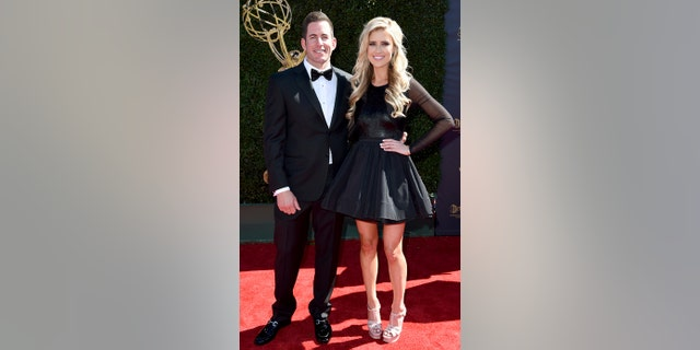 Tarek and Christina El Moussa arrive at the 44th annual Daytime Emmy Awards at the Pasadena Civic Center on Sunday, April 30, 2017, in Pasadena, Calif.
