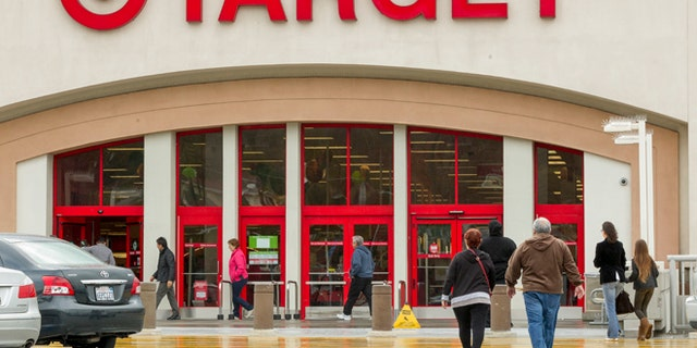 Dec. 19, 2013: Shoppers arrive at a Target store in Los Angeles.