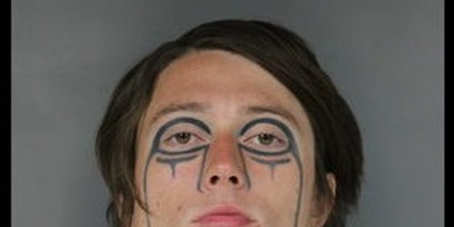 Christopher Breaker was identified for the crime after witnesses described his distinct face tattoo.