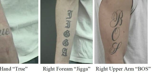 Investigators released new photos of Jakubowski's tattoos.