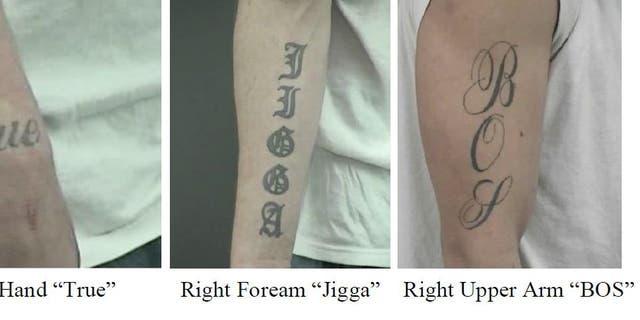 Investigators released new photos of Jakubowski's tattoos.