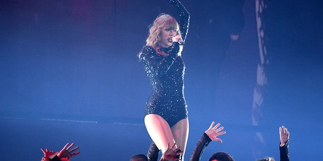 Singer Taylor Swift performs during her Reputation tour at MetLife Stadium on Friday, July 20, 2018, in East Rutherford, N.J.