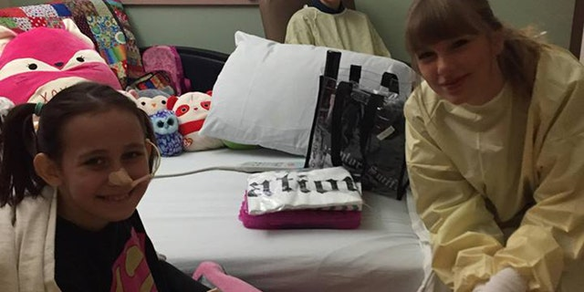 Swift arrived to the hospital after the girl's family made a video asking her to visit.