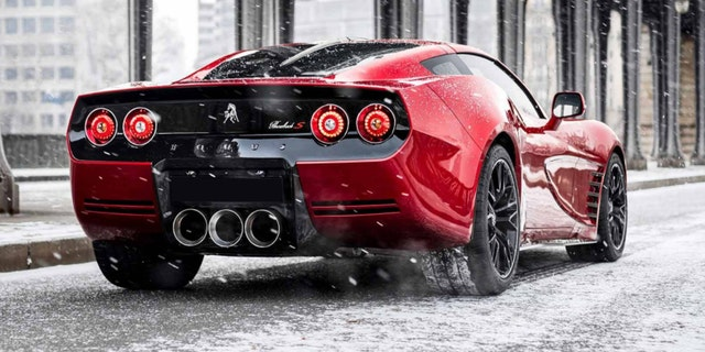 The Throback is a current-generation Corvette with a custom body inspired by older models.