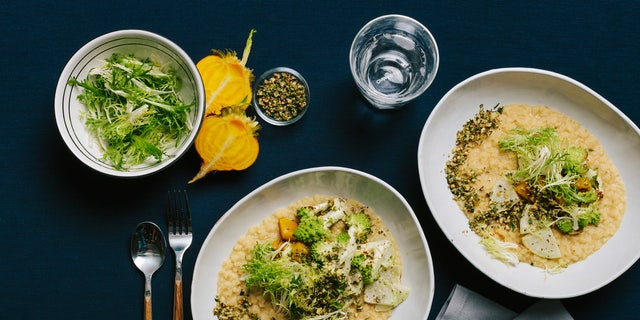 White Lentil Risotto With Meyer Lemon and Cashew Gremolata
