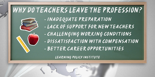 Data compiled by education think tank Learning Policy Institute show why U.S. teachers leave the profession.