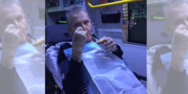 Ron McCartney, 72, was granted his final wish to eat a caramel sundae while taking his last trip to the hospital for palliative care after a 17-year fight with cancer.
