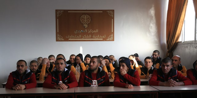 A group of participants at the Syrian Center for Anti-Extremist Ideology