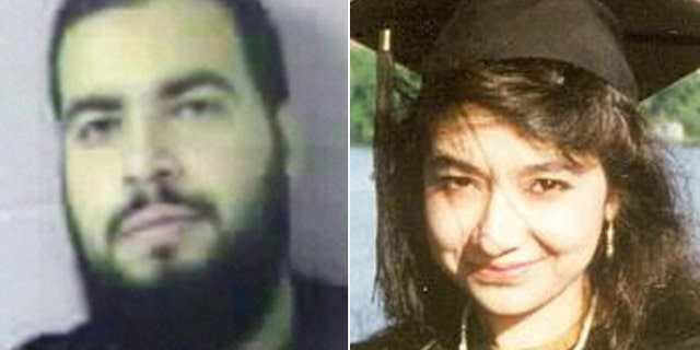 """Tarek Mehanna, (l.), and Aafia Siddiqui, aka """"Lady Al Qaeda,"""" are both former worshipers at the mosques, and now federal inmates serving sentences for terrorism convictions. (Sudbury Police, Reuters)"""
