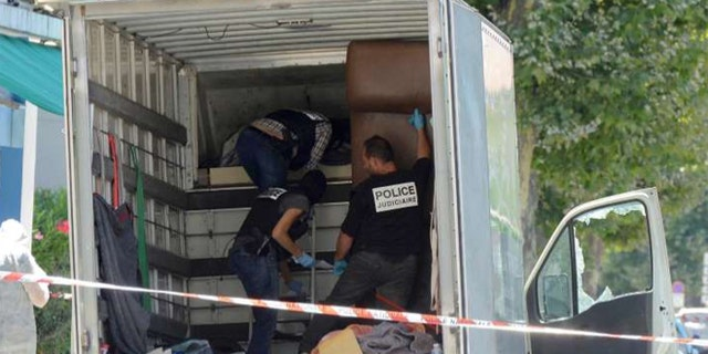 Police found weapons and documents in the truck.