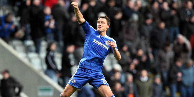 Dec. 3, 2011: Chelsea's captain John Terry celebrates his team's victory over Newcastle United at the end of their English Premier League soccer match at the Sports Direct Arena, Newcastle, England.