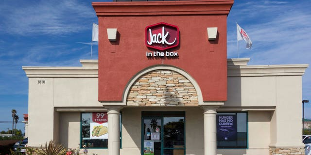 SALINAS, CA/USA - APRIL 8, 2104: Jack in the Box Restaurant exterior. Jack in the Box is an American fast-food restaurant chain with  2,200 locations, primarily serving the West Coast of the United States.
