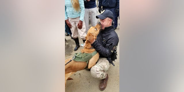 Connecticut State Police K9 Texas was found Friday after a search that spanned more than a day.