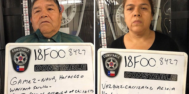 Mug shots for Haraclio Gamez-Nava, 64, and his wife Alicia Vazquez-Carrizales, 55.