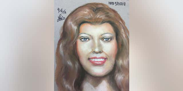 Authorities released a sketch of a woman whose head was found in a plastic bag at Lake Houston in March.