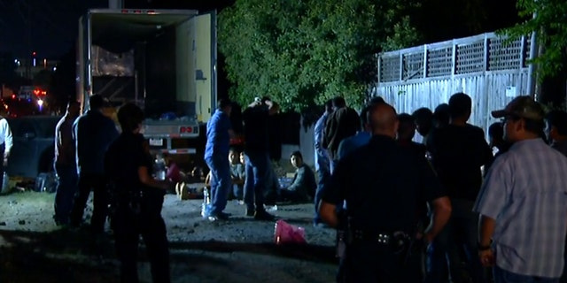 All of the trailer's occupants were taken to a detention center after they were searched.