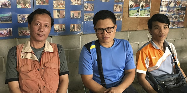 Honest (left) with other leaders of the Mae La camp lament the sharp reductions in funding that have occurred in recent years.
