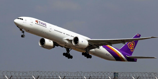 An image of a Thai Airways plane. Thai Smile Airways is a subsidiary of the Thailand flag carrier.