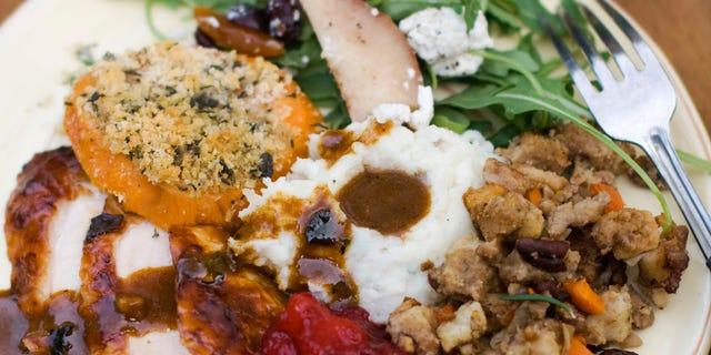 Oct. 8, 2012: Thanksgiving dinner plate.