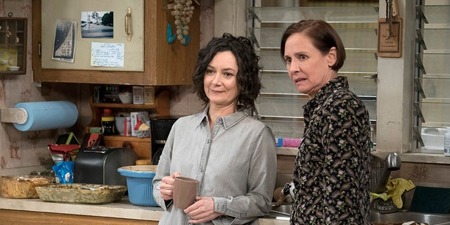 "Sara Gilbert and Laurie Metcalf appear in ""The Conners"" premiere."