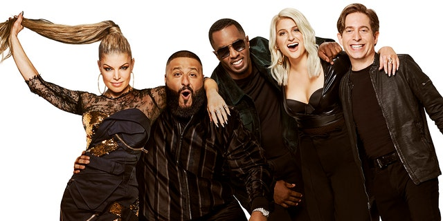 """'The Four: Battle for Stardom' features Fergie as host and panelists DJ Khaled, Sean """"Diddy"""" Combs, Meghan Trainor and Charlie Walk."""