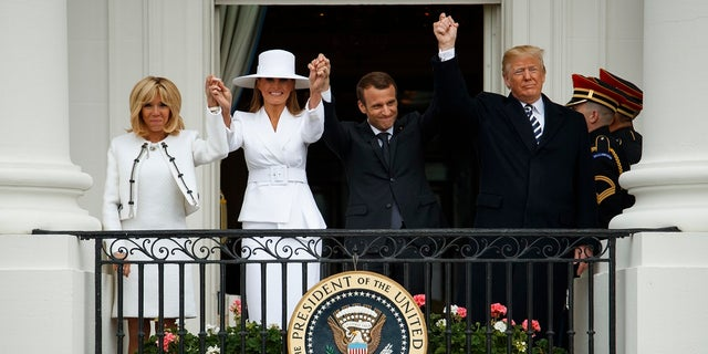 French President Emmanuel Macron and his wife Brigitte visited the White House this week.